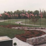 Avenue of the Flags at the Fort Custer National Cemetery. (Photo by John McNeill)