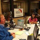 KFGO News and View's host Joel Heitkamp interviewing Tammy Sadek