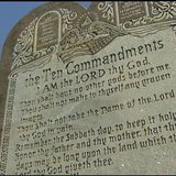Ten Commandments marker