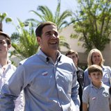 Arizona Republican gubernatorial primary candidate Doug Ducey smiles after voting in the Paradise Valley section of Phoenix, Arizona August 26, 2014. CREDIT: REUTERS/SAMANTHA SAIS