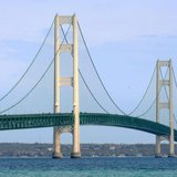 The Mackinac Bridge. Image © Midwest Communications, Inc. 2014.