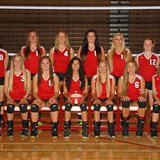 The 2014 Coldwater Cardinal JV Volleyball team. Photo credit: Lifetouch Studios.