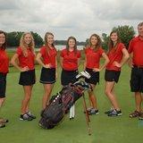 The 2014 Coldwater Cardinal Varsity Girls Golf team. Photo credit: Lifetouch Studios.