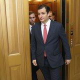U.S. Senator Ted Cruz (R-TX) walks to the Senate floor for a vote on a $1.1 trillion U.S. spending bill at the U.S. Capitol in Washington, in this January 16, 2014 file photo.  CREDIT: REUTERS/JONATHAN ERNST/FILES