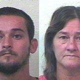 Randall and Peggy Hamilton.  (Mugshot courtesy of the Van Buren County Sheriff's Department)