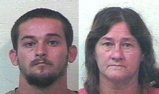 Randall and Peggy Hamilton.  (Mugshot courtesy of the Van Buren County Sheriff's Department)