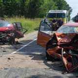 The wrecks of the Ford and Honda from Thursday morning's crash. (photo courtesy Michigan State Police)