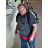 Surveillance image of Thomas J. Sanders (Photo from: Manitowoc Police Department).