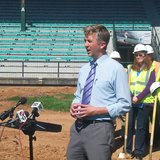 Mayor Ness at Wade Stadium renovation groundbreaking ceremony