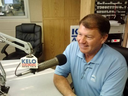 Former governor Mike Rounds in the KELO Radio studios (KELO file photo)