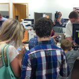 Same sex couples apply for marriage licenses in Brown County. (Photo from: FOX 11).