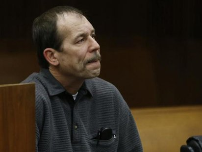 Theodore Wafer sits in the court room during his arraignment in Detroit, Michigan January 15, 2014, for the November 2, 2013 shooting death of Renisha McBride in Dearborn Heights.  Credit: Reuters/Rebecca Cook