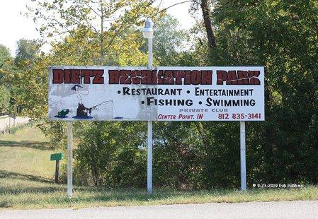Dietz Lake Sign