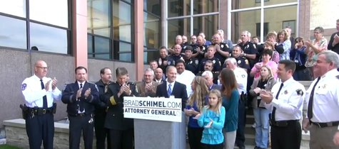 Republican candidate for Wisconsin attorney general and Waukesha County DA Brad Schimel. (Photo from: FOX 11/YouTube).