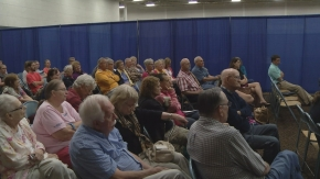 Residents of Park East Apartments attend city meeting.