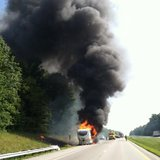 camper fire on I-70 photo courtesy Indiana State Police