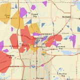 Consumers Energy Outage map at height of the outages.  (courtesy Consumers Energy.