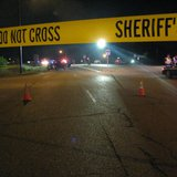 Scene of officer-involved shooting in Plover Photo: Larry Lee © 2014 Midwest Communications