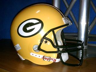 Green Bay Packers helmet (Photo from: FOX 11).