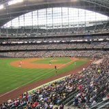 Crowds pack the stands at Miller Park (photo: Midwest Communications)