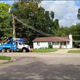 Consumers Crews making repairs. (Photo provided by Consumers Energy)