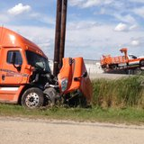 Damaged vehicles at the scene of a crash on Highway 41 at Highway 26 near Oshkosh on September 8, 2014. (Photo from: FOX 11).