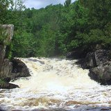 LaSalle Falls on the Pine River near Florence, Wisconsin. (Photo By Markheffron2 (Own work) [CC-BY-SA-3.0 (http://creativecommons.org/licenses/by-sa/3.0)], via Wikimedia Commons).