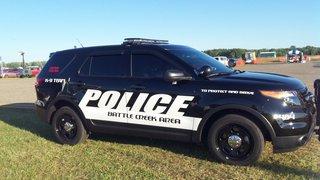Battle Creek Police cruiser. (Photo by John McNeill)