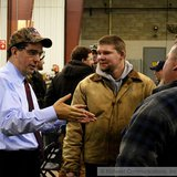 Wisconsin Governor Scott Walker at Northstar Fabricating in Rhinelander. (Photo Copyright Midwest Communications, Inc.)