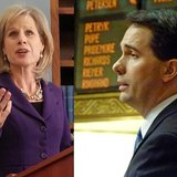 Mary Burke and Scott Walker (Photos: Wisconsin Radio Network)
