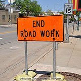End Road Work sign (copyright: Midwest Communications, Inc)