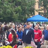 Large crowd turned out for Thurday's 9-11 memorial service in Bronson Park