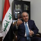 Iraq's Vice President Iyad Allawi smiles during an interview with Reuters in Baghdad September 14, 2014.  CREDIT: REUTERS/AHMED SAAD