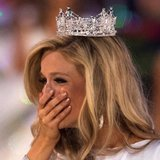 Miss New York Kira Kazantsev reacts after she was announced as the winner of the 2015 Miss America Competition in Atlantic City, New Jersey September 14, 2014.  CREDIT: REUTERS/ADREES LATIF