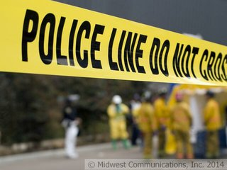 Crime Scene Investigation Graphic (Photo Copyright Midwest Communications, Inc.)