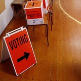 Ballot boxes and Voting Booths by SimonLyall (Own work) [Public domain], via Wikimedia Commons