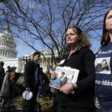 Family members of victims of the GM recall failure arrive to hold a news conference on the U.S. Capitol grounds in Washington April 1, 2014. Credit: Reuters/Jonathan Ernst