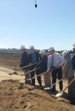 Groundbreaking ceremony for new joint Coldwater Board of Public Utilities and Michigan South Central Power Agency electric  generation plant on North Fillmore Road, September 16, 2014