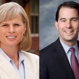 Democratic gubernatorial candidate Mary Burke, left, and Republican Governor Scott Walker, right. (Photo from: FOX 11).