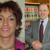 Wisconsin Attorney General candidates Susan Happ (D), left, and Brad Schimel (R). (Photo from: FOX 11).