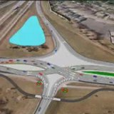 Mn-DOT's drawings of a diverging diamond intersection planned for 8th St. and I-94 in Moorhead