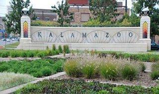 The Kalamazoo sign. Image © Midwest Communications, Inc. 2014.
