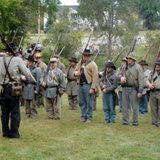 Image from the annual Civil War Muster held at Holland's Van Raalte Farm site (photo courtesy Holland Area Convention and Visitors Bureau)
