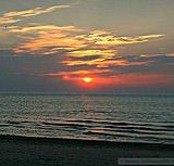 Sunset over Lake Michigan (copyright: Midwest Communications, Inc)