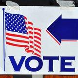 Vote sign (Wisconsin Radio Network)