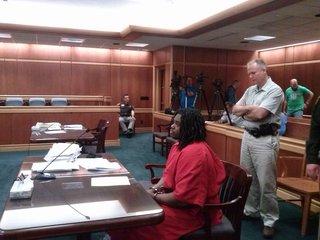 Fredrick Morris in court for sentencing.   Photo: Raymond Neupert © 2014 Midwest Communications.