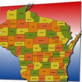 Wisconsin counties map (from Wisconsin Radio Network)