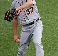 Tigers starting pitcher #37 Max Scherzer