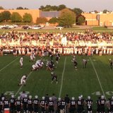 Action from West Ottawa's 18-7 win over visiting Grand Haven on Sept. 19, 2014 (photo courtesy Brent Alan, Midwest Communications)
