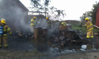 Tire fire near Wolverton, MInnesota